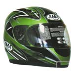 Green AMA Racing Helmets
