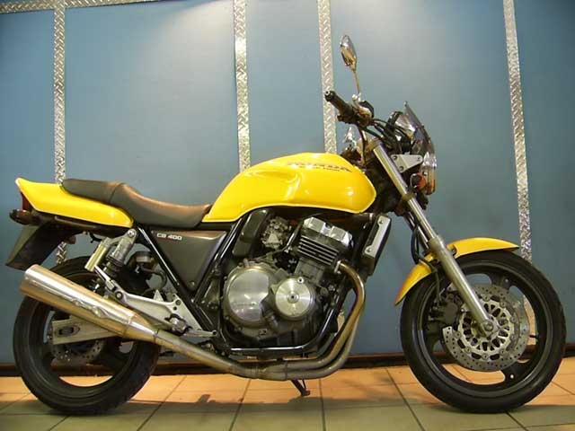 Yellow CB400 Super-Four