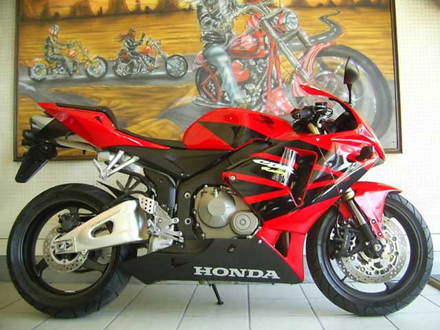 Red Black 2007 Honda CBR600RR Fireblade