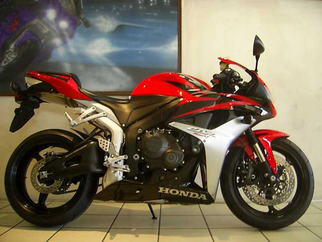 Red Black 2008 Honda CBR600RR Fireblade