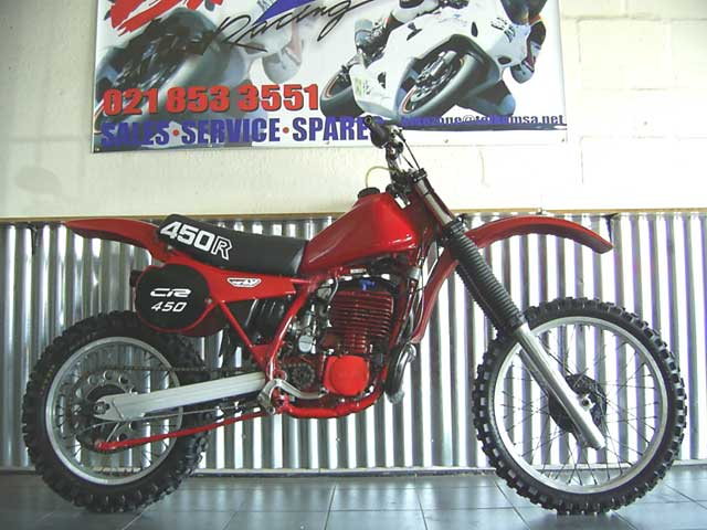 Honda CR450 Classic Red Rocket