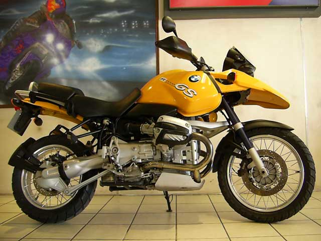 Yellow 2004 BMW R1150GS