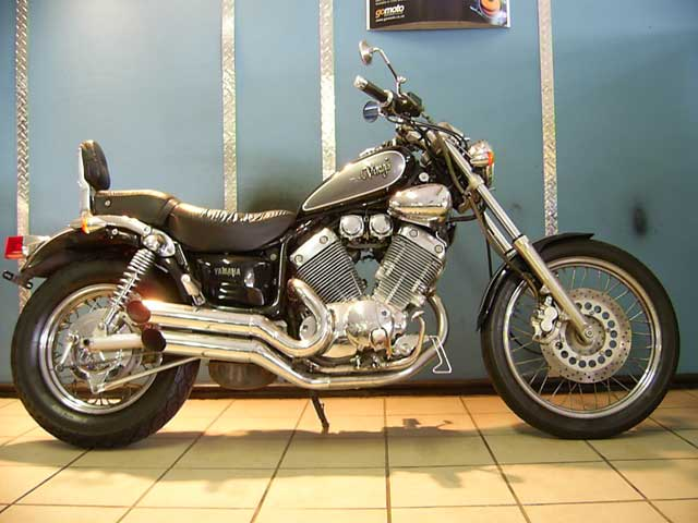 Black Grey Yamaha Virago 400
